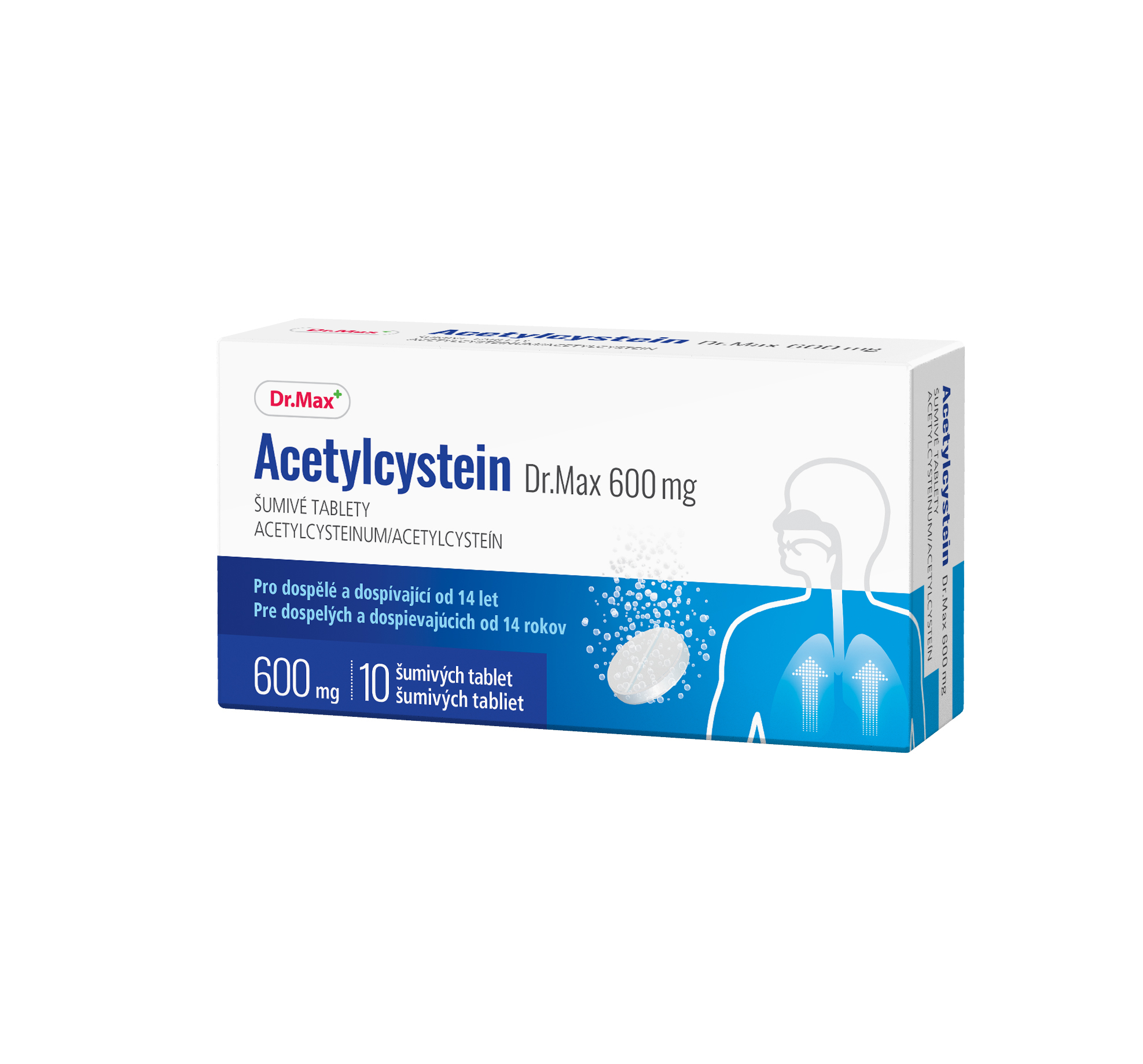 Dr.Max Acetylcystein 600 mg 10 šumivých tablet
