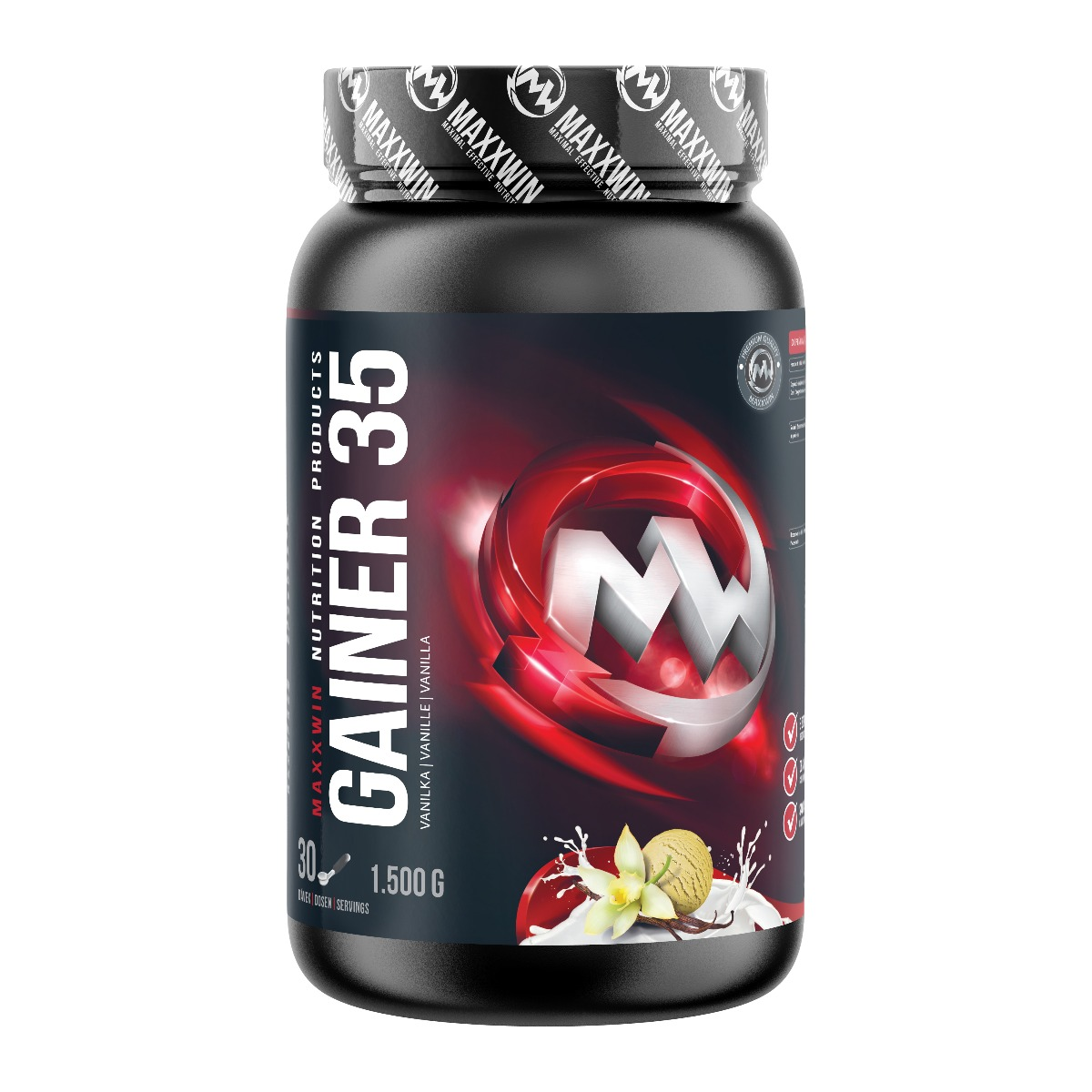 MAXXWIN GAINER 35 vanilka 1500 g