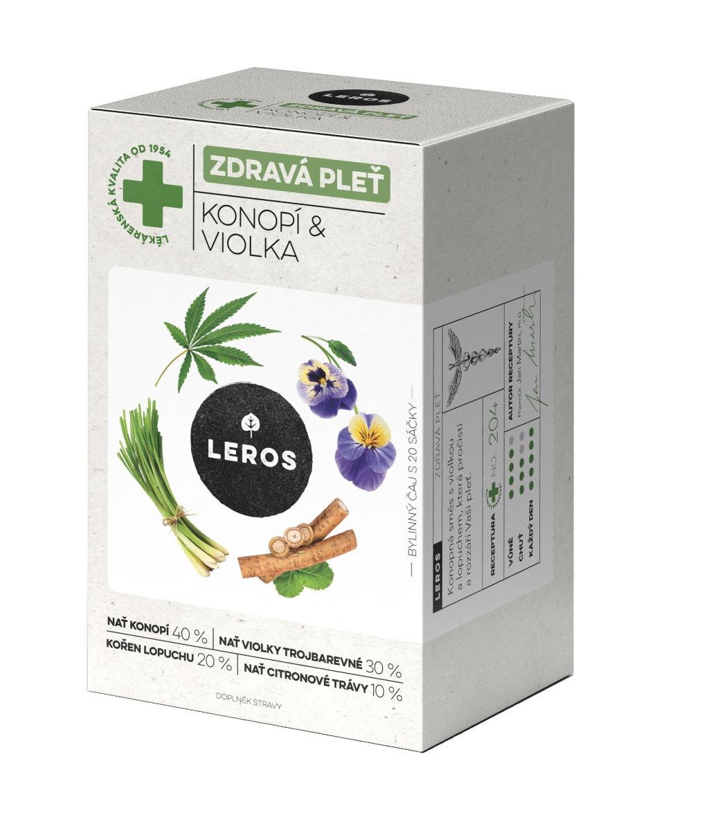 Leros Zdravá pleť konopí & violka 20x1,5 g