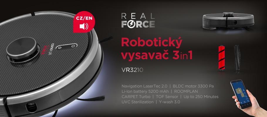Concept Real Force VR3210 3v1 Laser robotický vysavač s mopem10