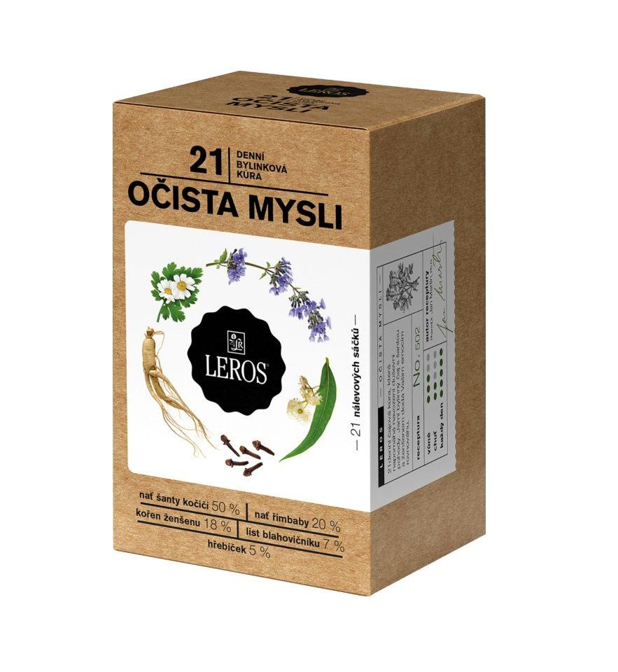 Leros Očista mysli porcovaný čaj 21 sáčků