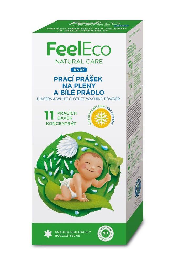 Feel Eco Prací prášek na pleny a bílé prádlo 660 g