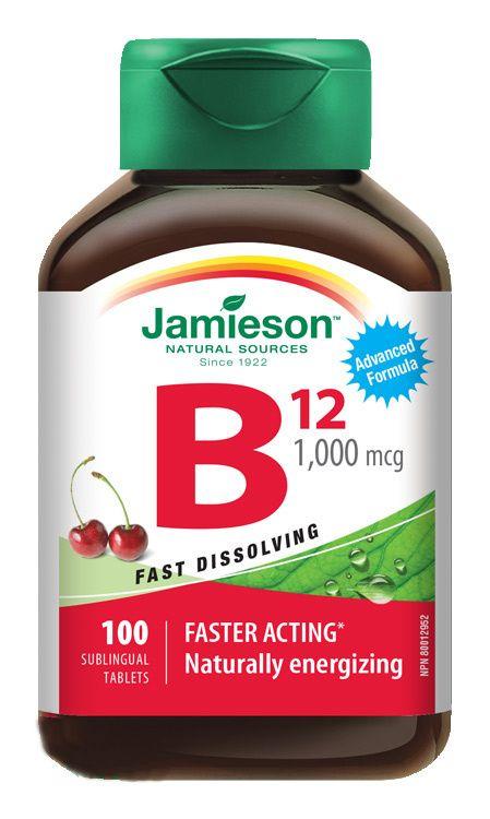 E-shop Jamieson Vitamin B12 1000 mcg třešeň 100 tablet