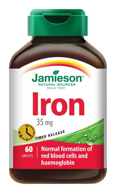 E-shop Jamieson Železo s postupným uvolňováním 35 mg 60 tablet