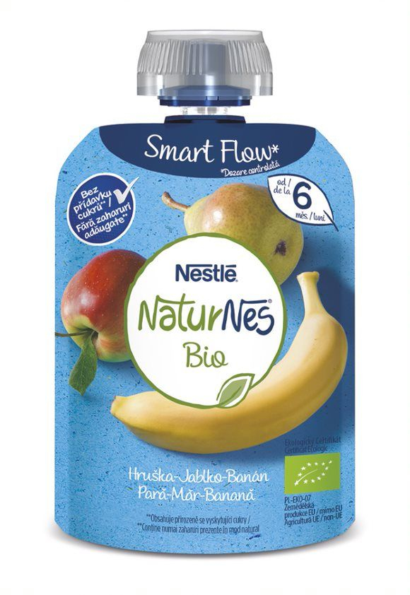 Nestlé Naturnes BIO Hruška jablko banán kapsička 90 g