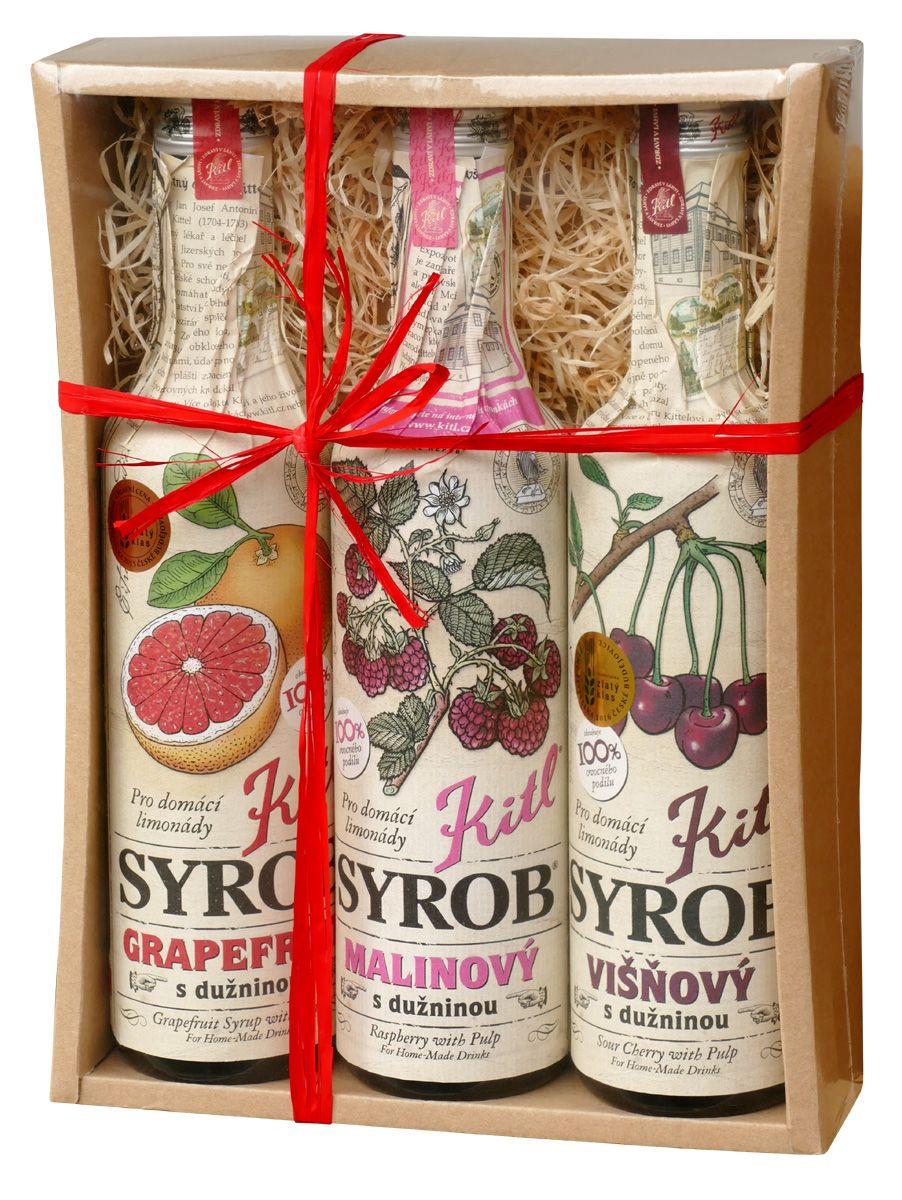 Kitl Syrob Grep + Višeň + Malina dárkové balení 3x500 ml