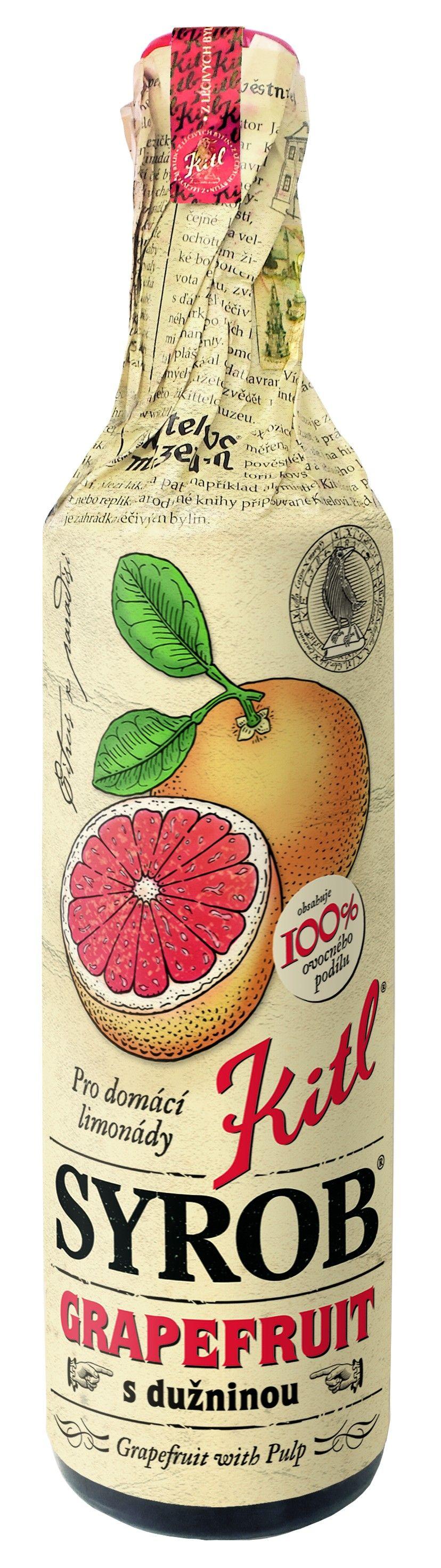 Kitl Syrob Grapefruit s dužninou 500 ml
