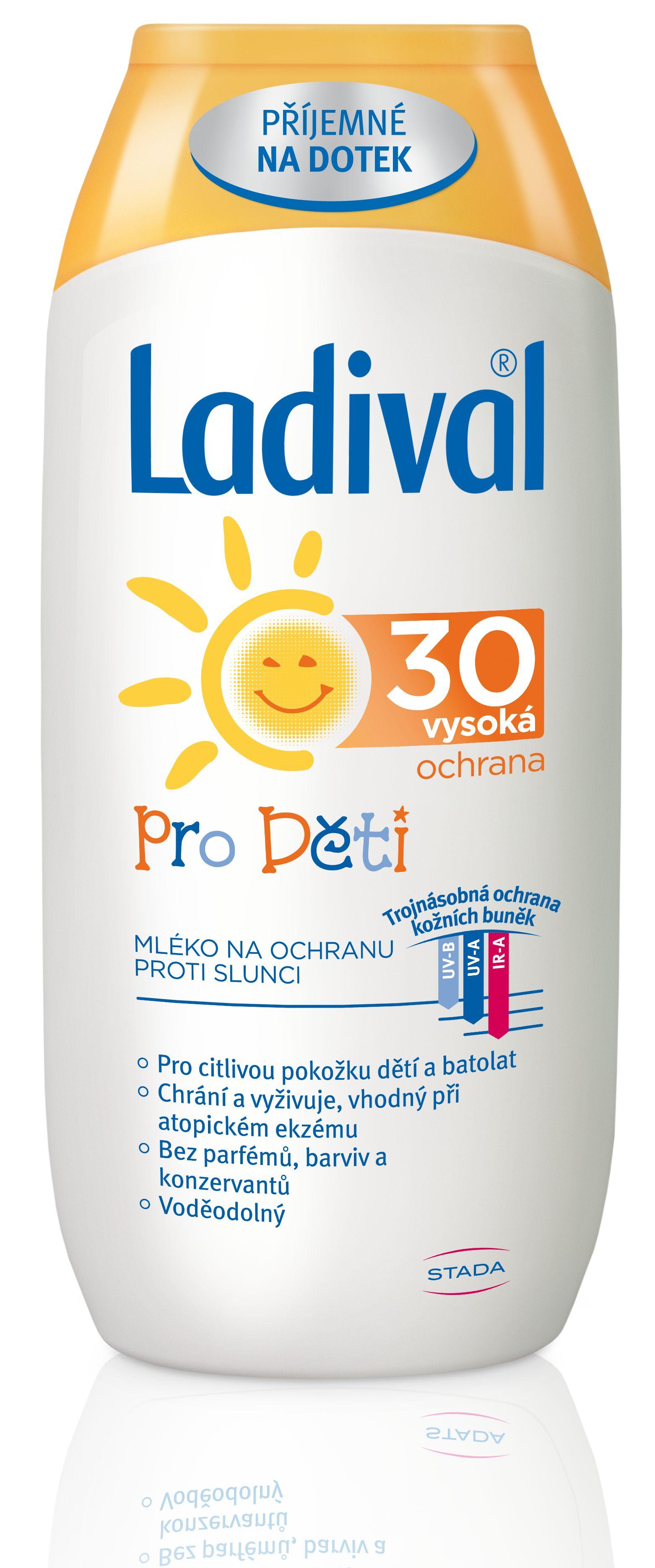 Ladival Ochrana proti slunci OF30 mléko pro děti 200 ml