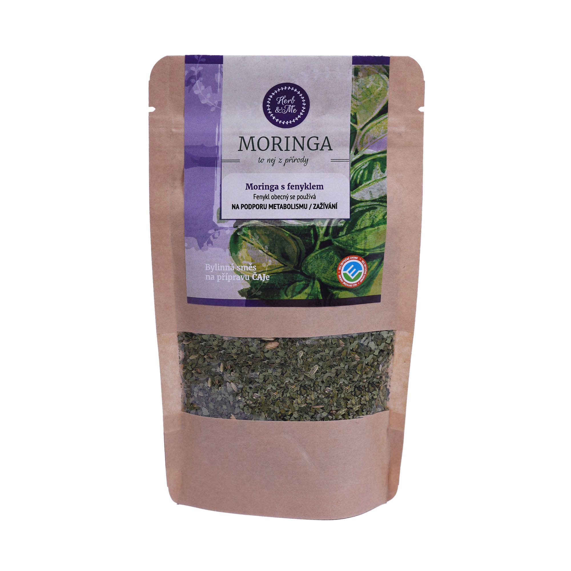 Herb&Me Moringa s fenyklem sypaný čaj 30 g