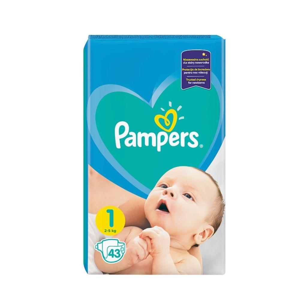 Fotografie Pampers Newborn vel. 1 dětské pleny 43 ks