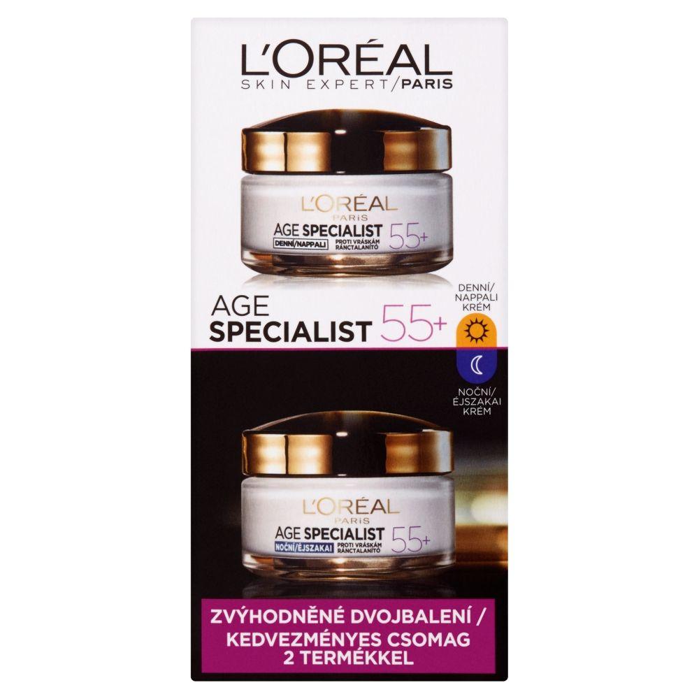 Loréal Paris Age Specialist 55+ sada denní a noční krém 2x50 ml