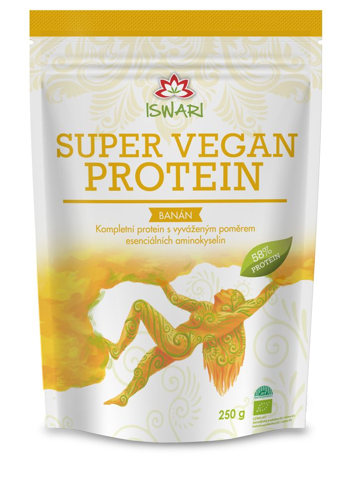 Iswari BIO Super Vegan Protein banán 250 g