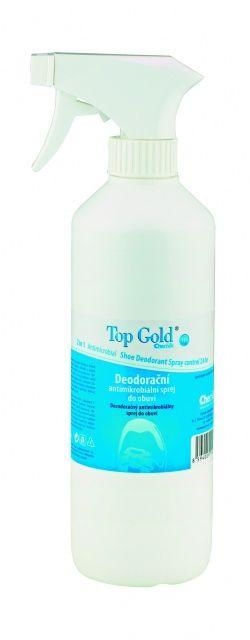Top gold Deodorační antimikrobiální sprej do obuvi 500 ml