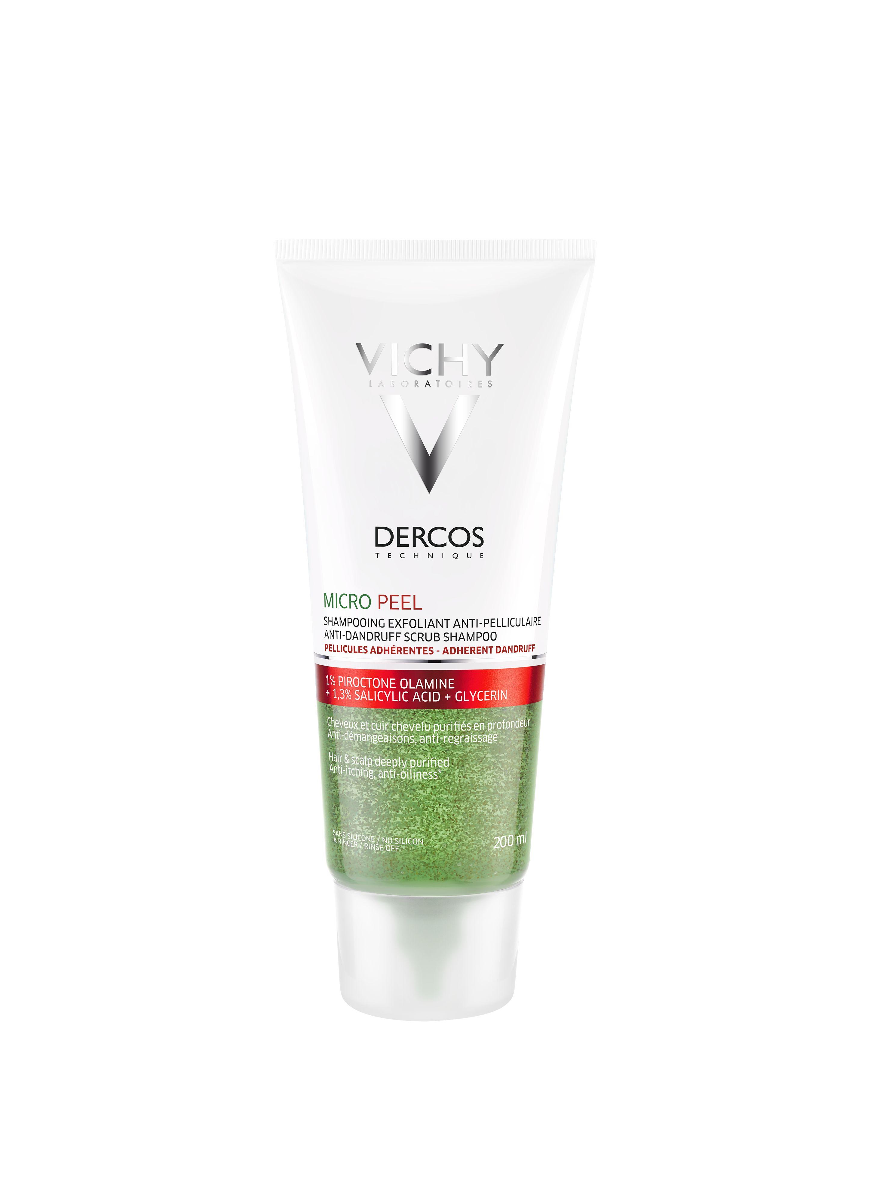 Vichy Dercos Micro Pell peelingový šampon proti lupům 200 ml