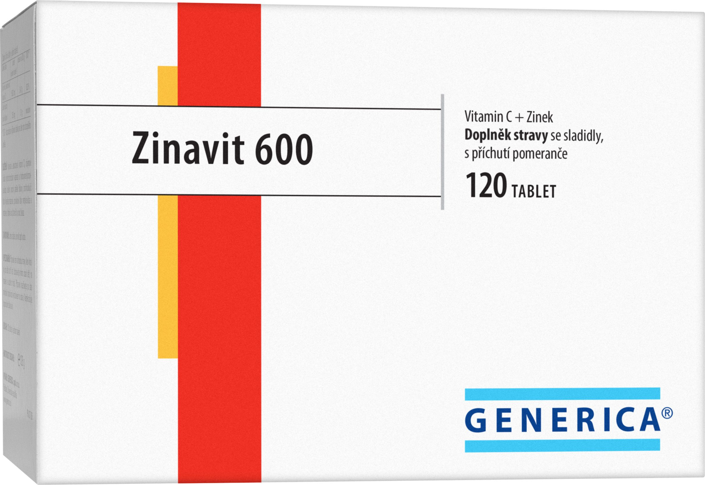 Generica Zinavit 600 120 cucavých tablet