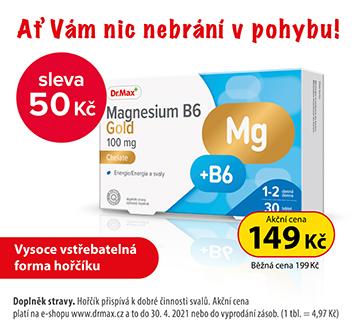 Magnesium B6 Gold -50 Kč